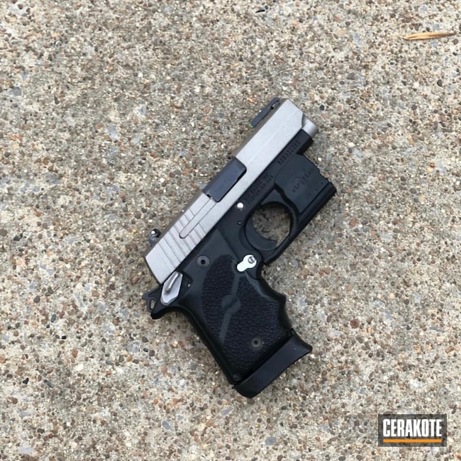 Sig Sauer in Armor Black and Savage Stainless