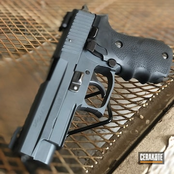 Cerakoted Sig Sauer P220 In Sniper Grey