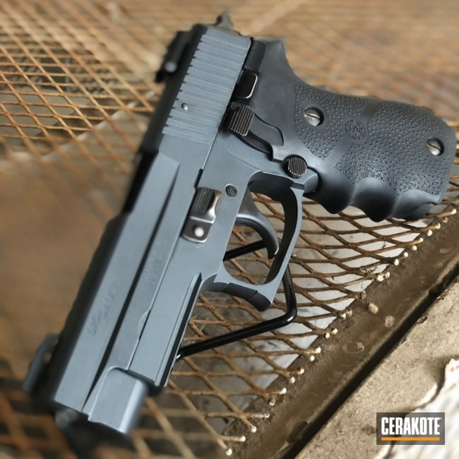 Cerakoted Sig Sauer P220 In Sniper Grey