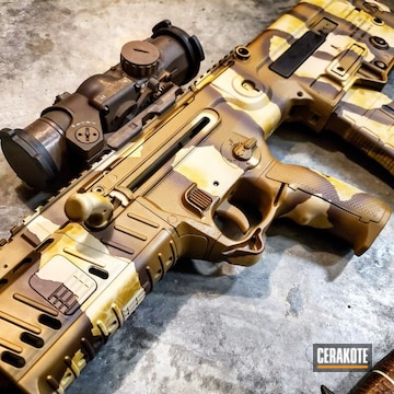 Cerakoted Iwi X-95 With Custom Camo