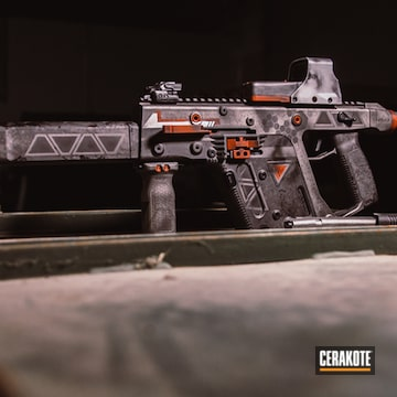 Cerakoted Kriss Vector With Distressed Honeycomb Pattern