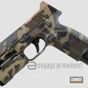 Cerakoted Fn 509 In Custom Multicam Pattern