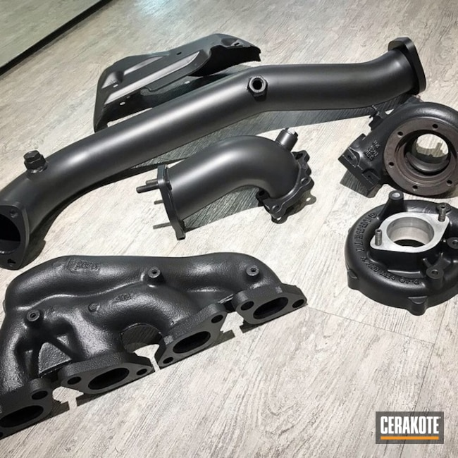 Glacier Black Nissan Exhaust Components