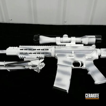 Cerakoted Snow Camo Ar-15