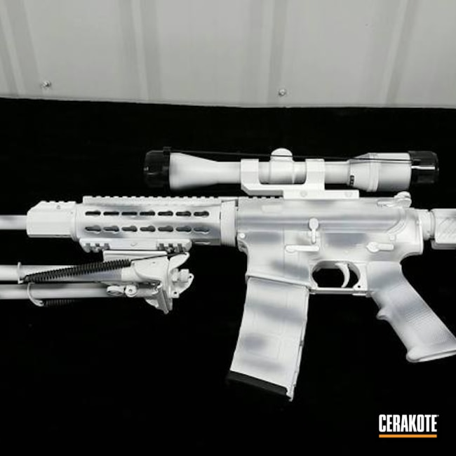 Cerakoted: SMITH & WESSON® GREY H-214,Stormtrooper White H-297,DPMS,Custom Mix Grey,AR-15,Snow Camo