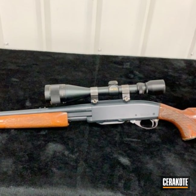 Cerakoted: Midnight Blue H-238,Pump-action,Remington,.270