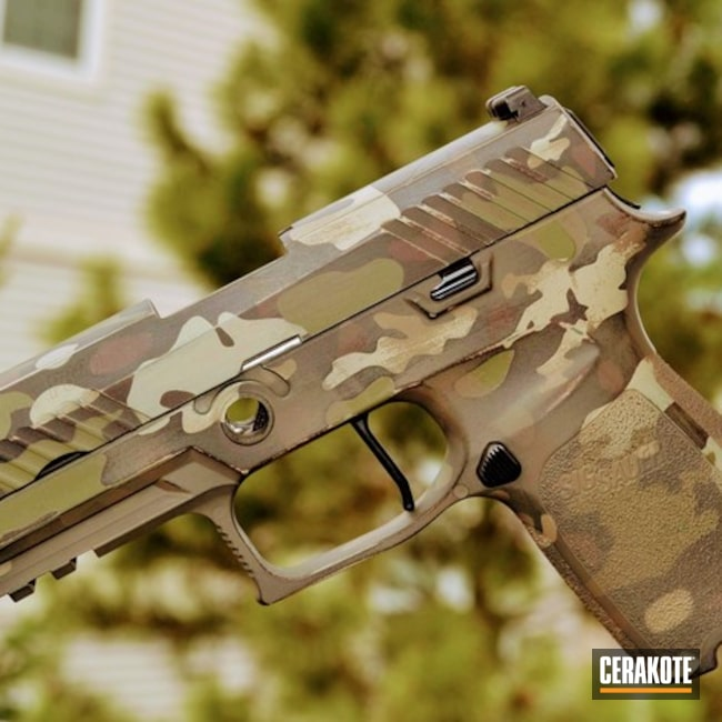 "Thumbnail image for project ""Sig Sauer P320 Handgun with a Custom Cerakote MultiCam Finish"""