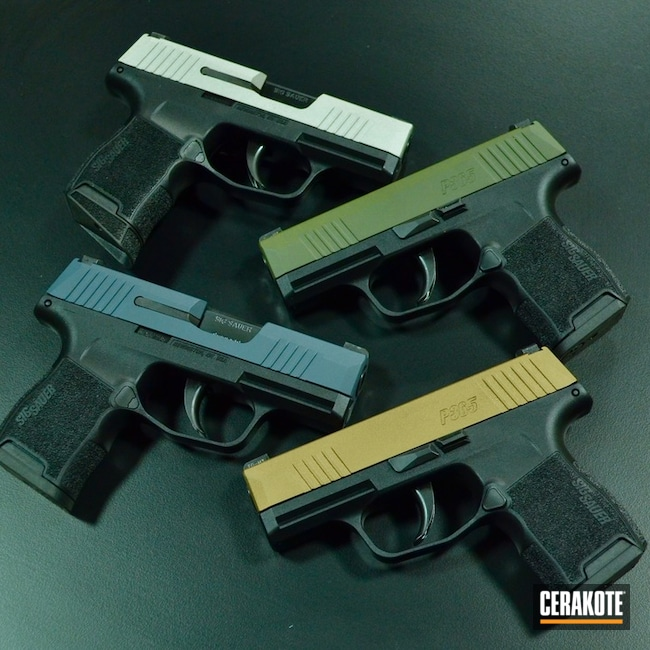 Sig Sauer Slides Cerakoted in Multiple Colors