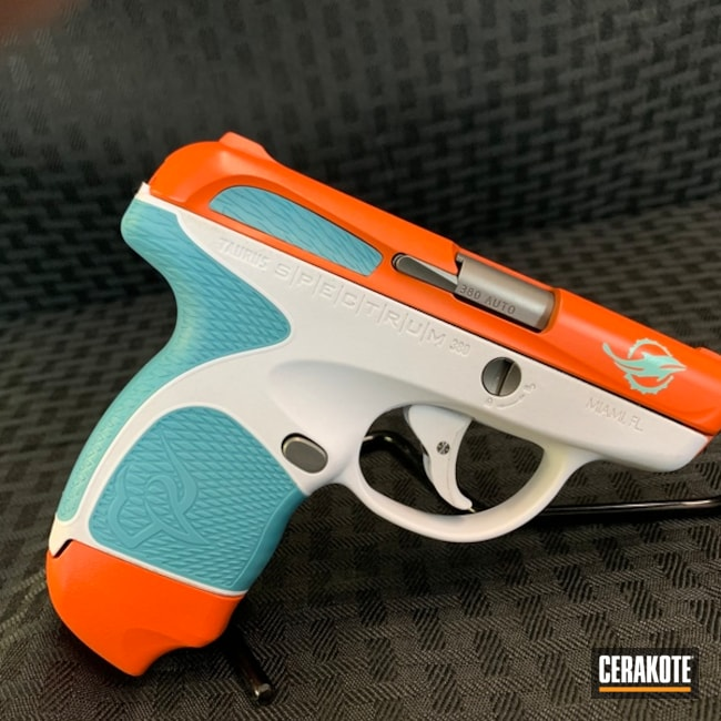 "Thumbnail image for project ""H-146 Graphite Black, H-128 Hunter Orange and H-175 Robin's Egg Blue"""