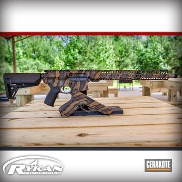 Cerakoted Matching Rifle And Handgun With A Custom Stalker Camo Cerakote Finish