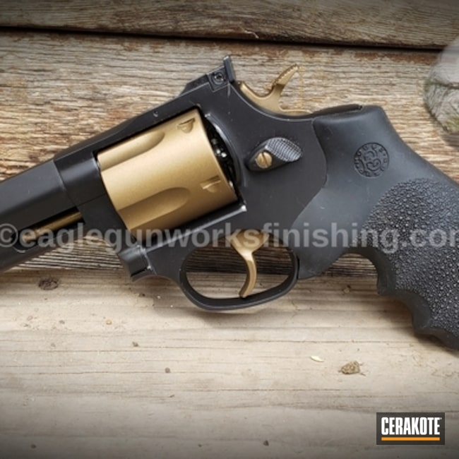 "Thumbnail image for project ""Two Toned Revolver with Cerakote H-146 and H-148"""