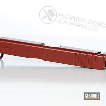 Cerakoted Crimson Glock Slide