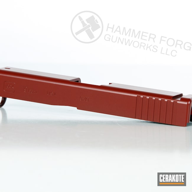 Cerakoted Crimson Glock Slide