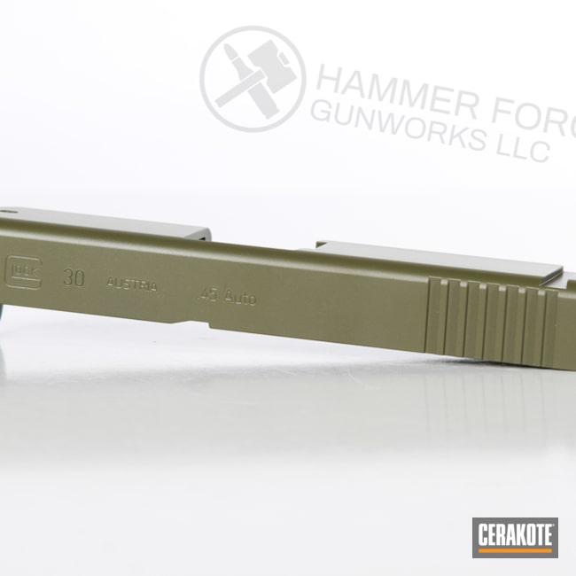 Cerakoted Noveske Bazooka Green Glock Slide