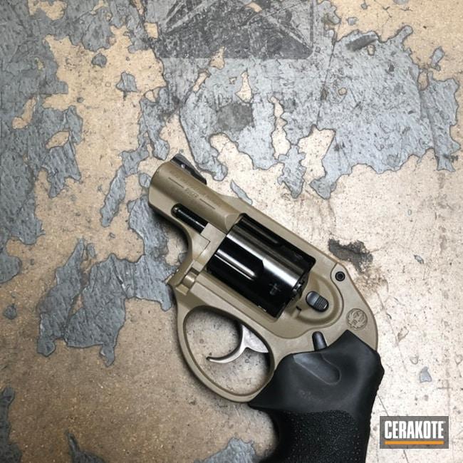 Cerakoted: Coyote Tan H-235,Ruger,Ruger LCR,.357 Magnum,Revolver