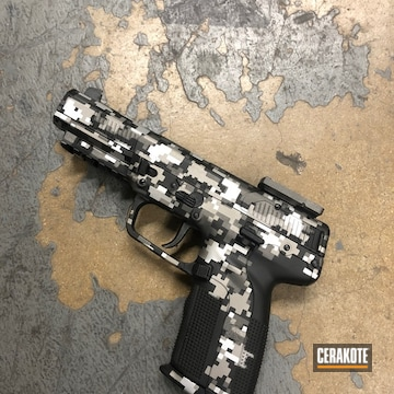 Cerakoted Fn Herstal In Custom Digital Camo