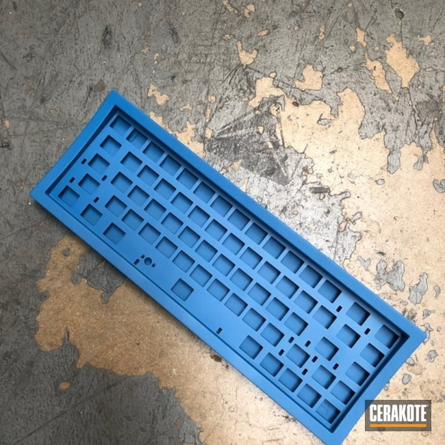 Cerakoted Ridgeway Blue Keyboard