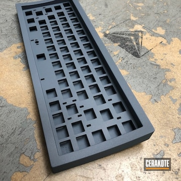Cerakoted Cobalt Kinetics Slate Keyboard