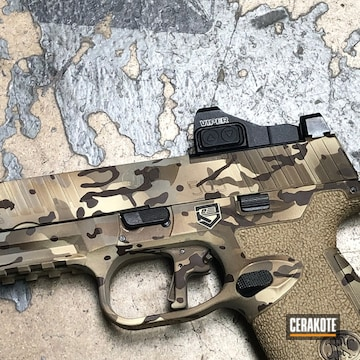 Cerakoted Detailed Multicam On Fn 509