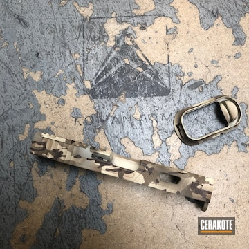 Cerakoted Arid Multicam Glock Slide