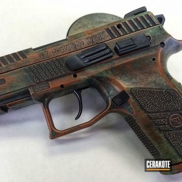 Cerakoted Cerakote Copper Patina Cz P-07 Pistol