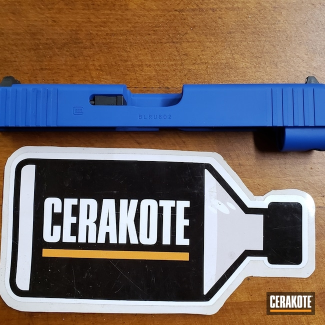 Glock 48 Slide Cerakoted with H-171 NRA Blue