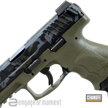 Cerakoted Hk Vp9sk With A Custom Cerakote Camo Finish