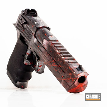 Cerakoted H-216 Smith & Wesson Red And H-151 Satin Aluminum
