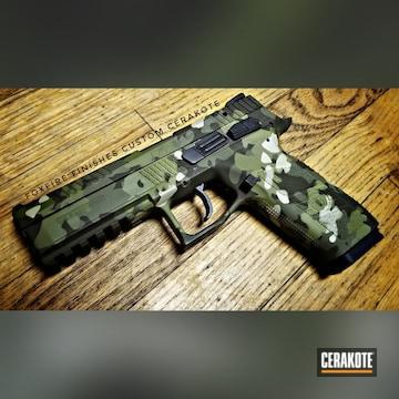 Cerakoted Cz P09 9mm Handgun In A Cerakote Flecktarn Camo Finish
