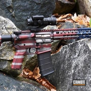 Cerakoted American Flag Finished Ar Custom Rifle
