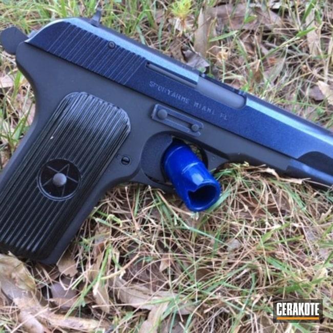 Cerakoted: 9mm,Graphite Black H-146,Chinese,Model 213,Pistol,GunCandy Blue Steel,GunCandy,Norinco