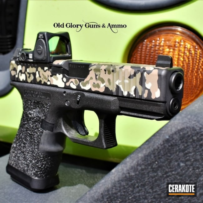 Cerakoted Custom Glock 19 Featuring A Custom Cerakote Multicam Finish