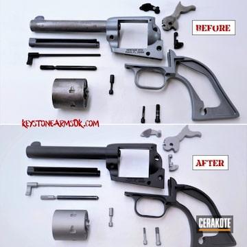 Cerakoted Refinished Revolver Using Cerakote Graphite Black And Titanium