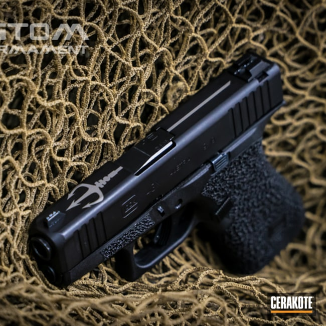 Glock 43 Cerakoted with H-190 and H-301