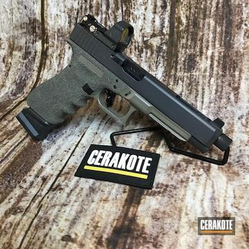 Cerakoted Two Toned Glock 34 With Cerakote E-120 And E-150