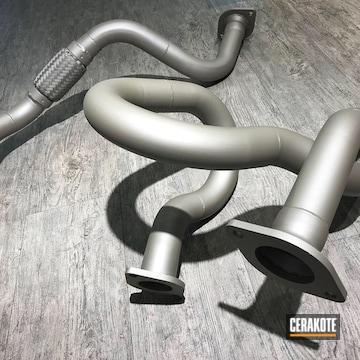 Cerakoted Estima Exhaust In Glacier Titanium C-7900