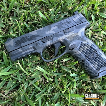 Cerakoted Fn 509 Handgun Cerakoted In Sniper Grey And Tungsten