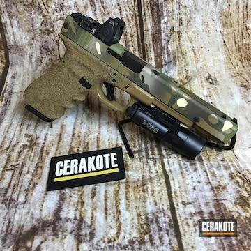 Cerakoted Custom Glock Handgun Build With A Cerakote Multicam Finish