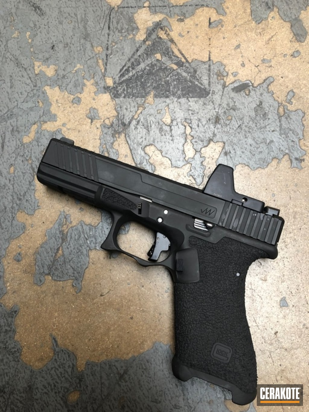 Modded Glock Handgun with a H-190 Armor Black Finish by ...