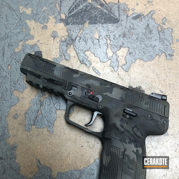 Cerakoted Five-seven With Multicam Black Camo Finish