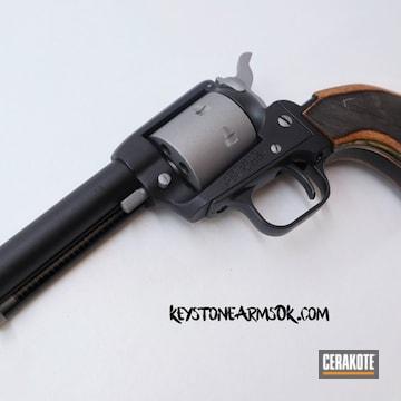 Cerakoted Heritage Mfg Revolver In A Two Tone Cerakote Finish
