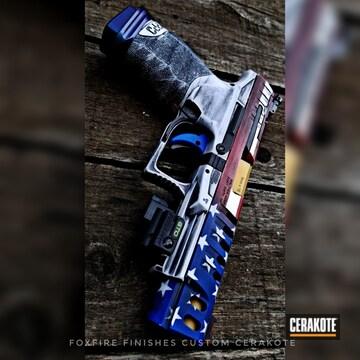 Cerakoted Walther Ppq Handgun With A Cerakote American Flag Finish