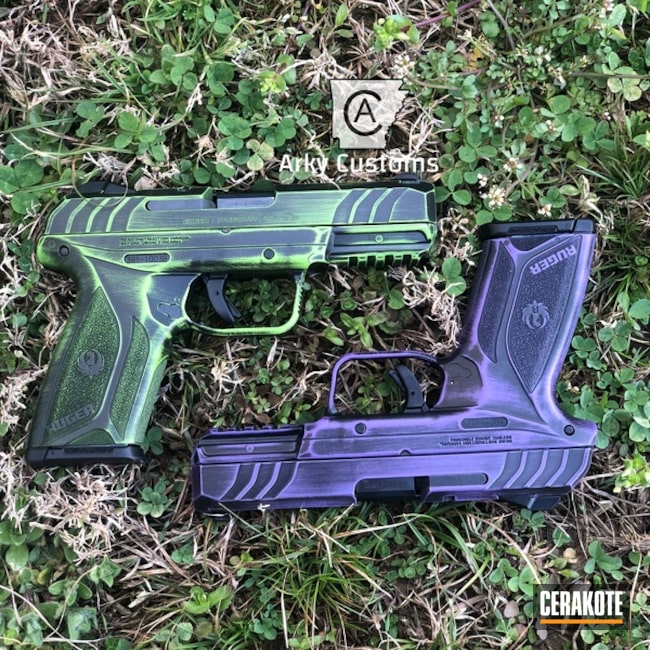 "Thumbnail image for project ""Cerakote Battleworn Ruger Security 9 Handguns"""
