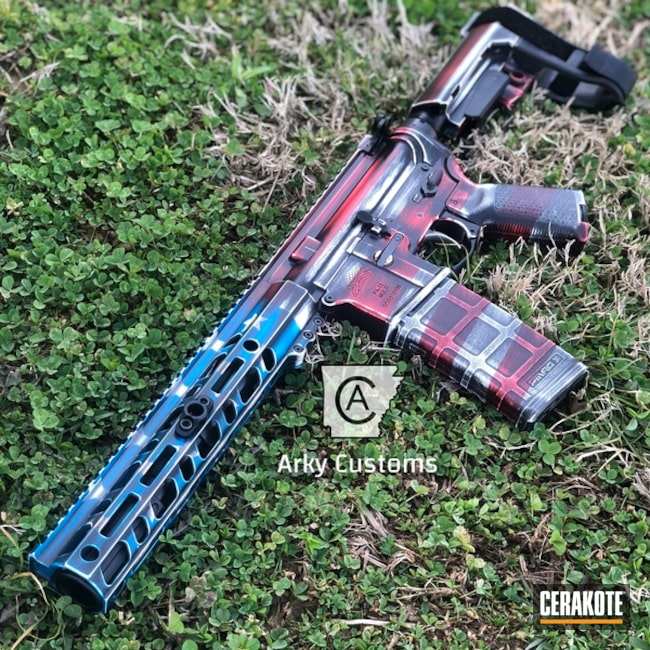 Cerakote Distressed American Flag