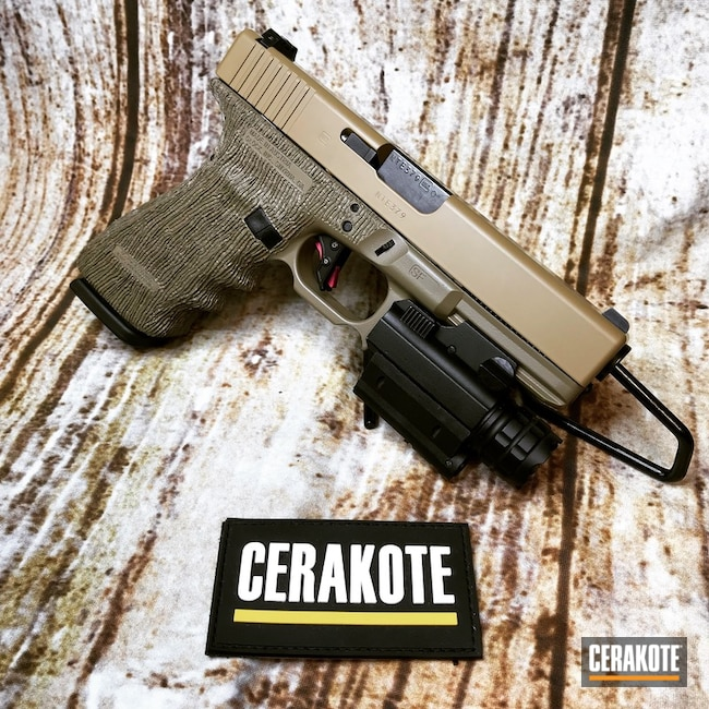 Cerakoted Glock 21sf With Cerakote E-200 And C-190