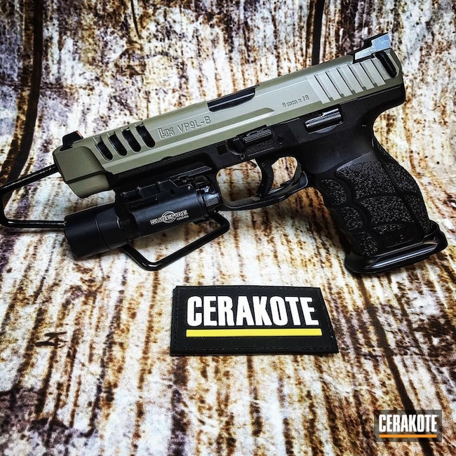 HKVP9L Handgun with Cerakote Elite E-100 and E-150