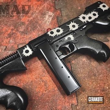 Cerakoted Old School Tommy Gun With A Custom Mad Cerakote Finish
