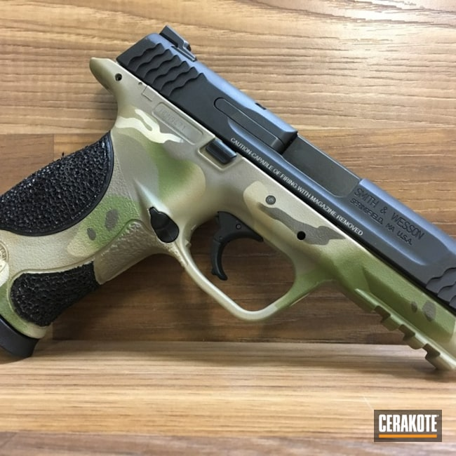 Smith & Wesson M&P 45 in a Custom MultiCam Finish
