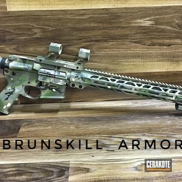 Cerakoted Rock River Arms Rifle And Cerakote Multicam