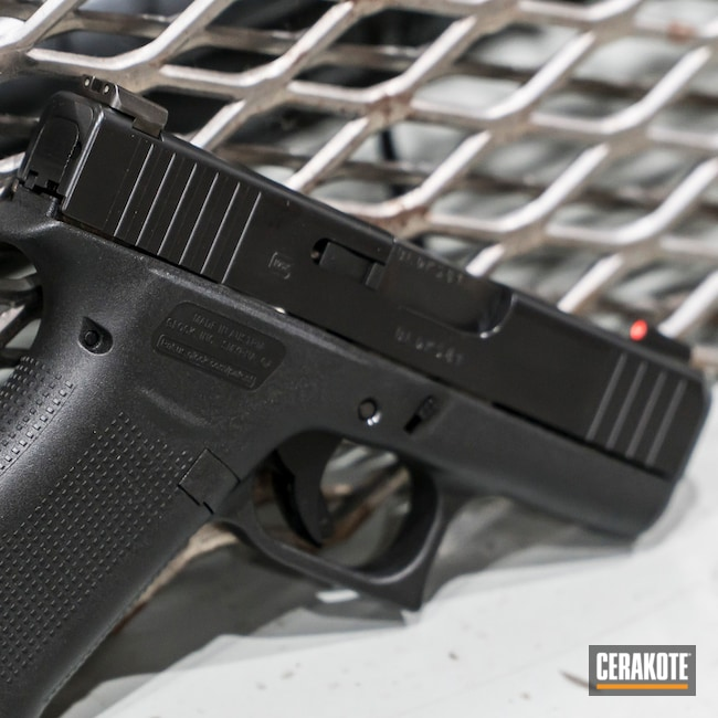 Glock 43X with Cerakote E-100 Blackout